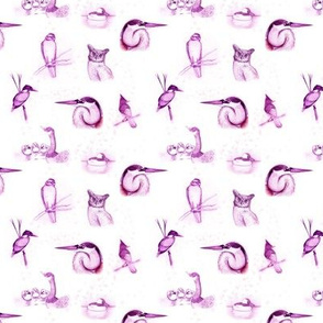 birds repeat pink