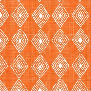 safety orange and diamonds