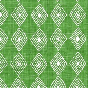 sharock green with diamonds