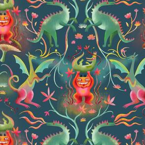tales of dragons in mystic kingdom
