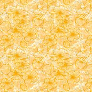 Orange magnolias