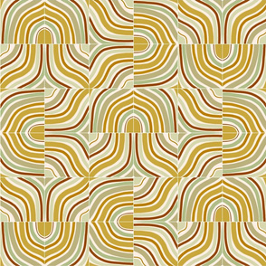 Ochre Mixed Marbled Tiles