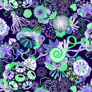 Yellana--green and purple
