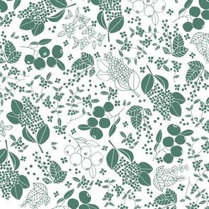 Garden fruit teal