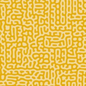 Organic Turing Pattern Mosaic // Mustard Yellow