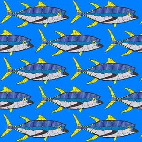 Mosaic Fish Tuna in blue