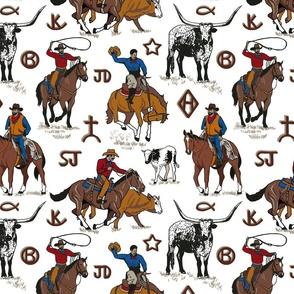 A Cowboys Work 12x12 white
