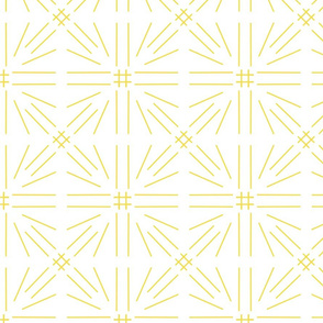 Southwestern Spur Abstract Hashtag Star in Illuminating Yellow on White