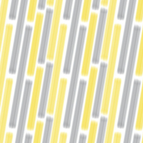 Brush Stroke Diagonal Lines in Illuminating Yellow and Ultimate Gray on White