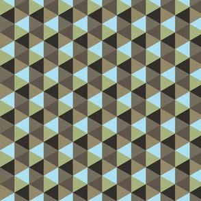 Black Sand Beach Geometric Colors