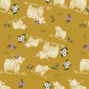 Highland Floral Mustard