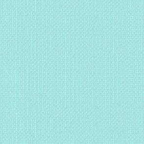 Linen textured mid aqua blue