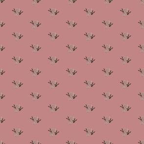 Pink Floral on Mauve