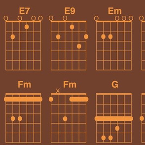 guitar chords - copper on brown