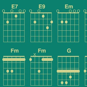 guitar chords - green-gold