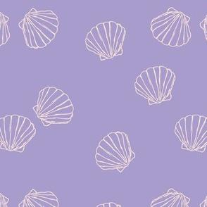 The messy sea side ocean shells beach theme boho style island vibes lilac blush girls