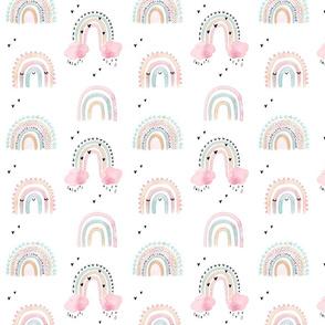cute rainbows in watercolor