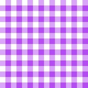 Purple Gingham Linen