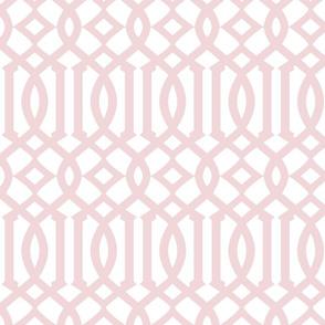 Wedgewood Pink Trellis
