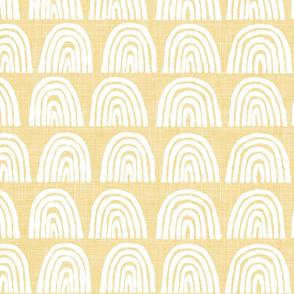 mellow yellow and white rainbos