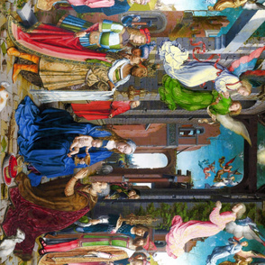 Seamless: Jan Mabuse /Gossaert: The Adoration of the Kings c. 1510-15