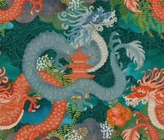 Ryu Ocean Dragon blue