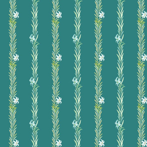 Easter Lillies on teal