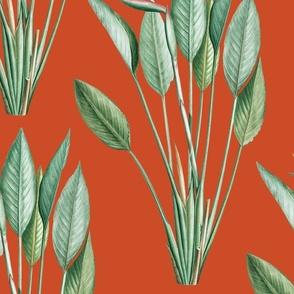 Paradise in Orange Red | Textile Size