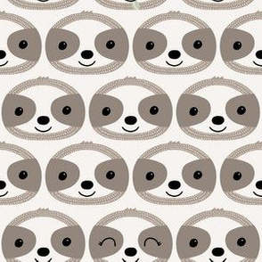 sloth faces // taupe and clay