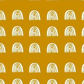 "Medium Mustard Desert Rainbows (1"")"