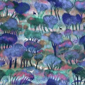 Enchanted Forest LARGE - with Dragons, Unicorns, Jackalope, Werwolve, jackalopes