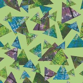 Mixed Media Triangles Apple