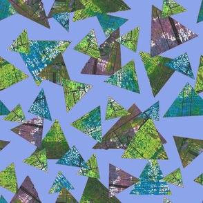 Mixed Media Triangles Lilac