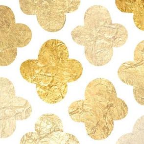 Quatrefoil - Gold Fill