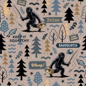 Bigfoot Fishing Bassquatch