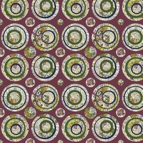 Collage Circles Plum Small