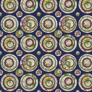 Collage Circles Navy Small