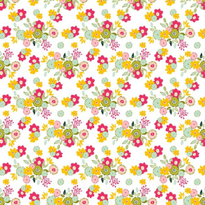 Hope  ditsy floral sweet fresh playful girly farmhouse cottage core floral TerriConradDesigns