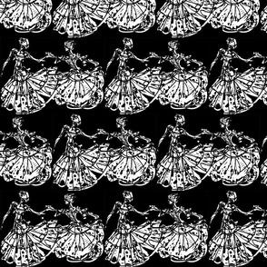 Dance in White on Black