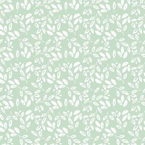 HOPE blue white leaf  farmhouse cottage core fresh nursery garden TerriConradDesigns
