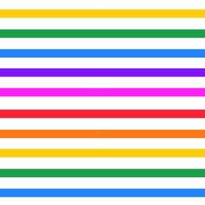 Rainbow stripe - horizontal (mini)