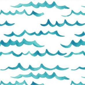 ocean waves_aqua // simple kids design, ocean waves