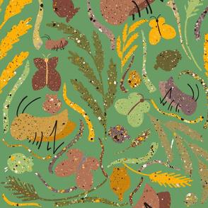 Hoppers & Prairie Grass - Green