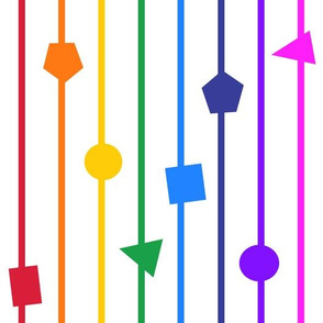 Rainbow geometric shapes and stripes - vertical (large)