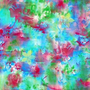 Rainbow Ink Roses