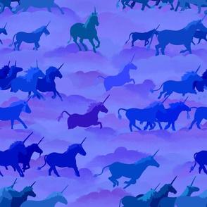 Where are the Unicorns -blue
