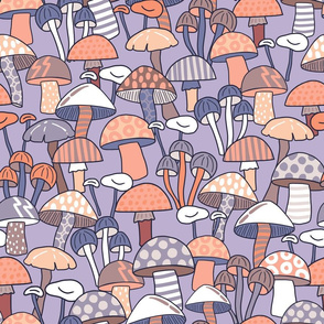 Maximalist Mushrooms - Large Scale - Lilac
