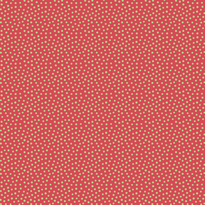 Spotty - Green dots over red