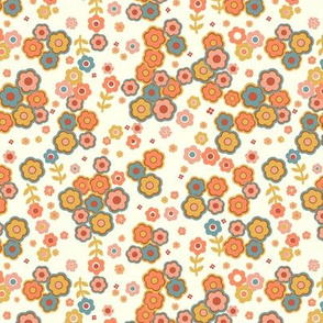 NewRetro simply Flowers-papaya