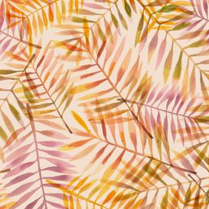Palm frond toss